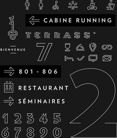While taking advantage of the renovation of its rooms, the Terrass' Hotel asked WIPbrands to rethink their visual identity. The hotel, with its' magnificent terrace, offers its guests one of the most beautiful views of Paris.But it also encourages the g… Hotel Signage, Hotel Branding, Office Branding, Typography Images, Typography Inspiration, Number Typography, Signage Design, Branding Design, Logo Design
