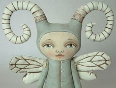 Zoee Bug is an odd one, but she likes it that way.  Adorable doll by CartBeforetheHorse on Etsy