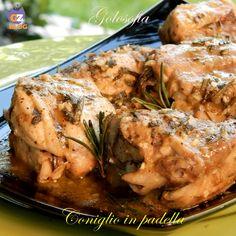 Coniglio in padella, ricetta tradizionale Plum Cake, Romanian Food, Rabbit, Turkey, Lunch, Meals, Chicken, Cooking, Healthy