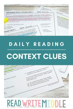 Daily reading comprehension in upper elementary and middle school is a great practice for students to practice during small groups or literacy centers. Check out all of these amazing reading passages and questions to see how you can use them with your kids! Reading Comprehension Passages, Reading Strategies, Middle School Reading, Context Clues, Common Core Standards, Test Prep, Upper Elementary, Literacy Centers, Small Groups