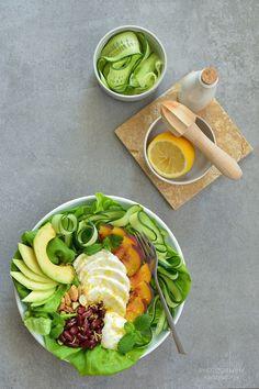 SMYKWKUCHNI: Sałatka z mozzarellą i cytrusową posypką! Mozzarella, Tofu, Cobb Salad, Lunch, Per Diem, Lunches