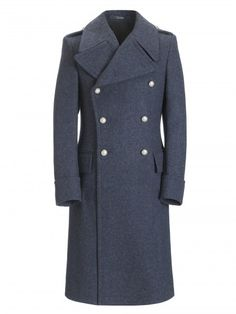 Pure Wool Air Force Blue Greatcoat