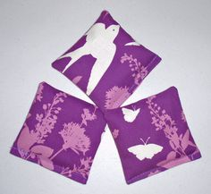 HANDMADE Lavender Sachets 4x4 Set of 3 Swallow by PersnicketyHome
