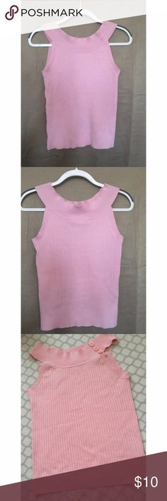 Pink ribbed top Used/ great condition   pink Faded Glory ribbed top Faded Glory Tops Tank Tops