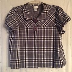 Plaid Swing Jacket Gray/Black swing jacket, XL, very versatile can be dressed up or down paired with jeans and boots... Maurices Jackets & Coats Blazers
