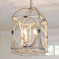 Wood Circle Lattice Hanging Lantern - Shades of Light - http://centophobe.com/wood-circle-lattice-hanging-lantern-shades-of-light/