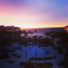 Needed a break from the rainy winter so took a trip to San Jose del Cabo. View from our room.   #mexico #cabosanlucas #sunset #allinclusive