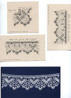 Album Archive - Pochette n 7 Tunisian Crochet Patterns, Bobbin Lace Patterns, Embroidery Patterns, Bobbin Lacemaking, Lace Heart, Point Lace, Lace Jewelry, Needle Lace, Lace Making