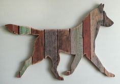 Custom order Malinois made from repurposed weathered barn wood.