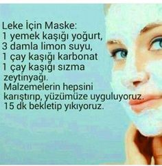 Sunshine Home Decor: Leke için maske Beauty Care, Beauty Skin, Health And Beauty, Homemade Skin Care, Homemade Beauty, Fitness Workouts, Stiff Neck Remedies, Gewichtsverlust Motivation, Skin Mask