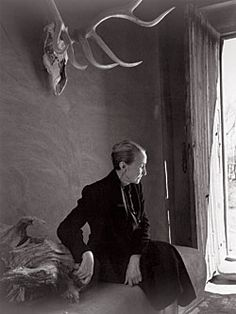 Georgia O'Keeffe, 1956. Gelatin silver print, Courtesy of the Georgia O'Keeffe Museum, Santa Fe • Yousuf Karsh