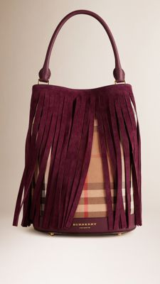 0b803c8dbc4a The Bucket Bag in House Check And Fringing Fringe Handbags