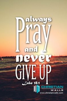 Luke Always Pray and Never Give up Canvas Wall Art Print Jesus Christ Quotes, Faith Quotes, Bible Quotes, Qoutes, Prayer Verses, Bible Verses, Hope Quotes Never Give Up, Luke 18 1, Christian Wallpaper
