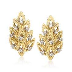 9b96a19a2 C. 1970 Vintage Tiffany Jewelry .50 ct. t.w. Diamond Earrings In 18kt Yellow