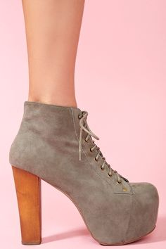 Lita Platform Boot - Gray Suede...I feel like I might need another pair!