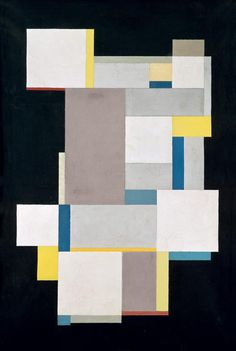 socialclaustrophobia:  Carl Buchheister, Composition in Blue and Yellow Layers, model for a picture, 1926 via blastedheath