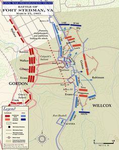Map of Fort Stedman, Virginia (1865)