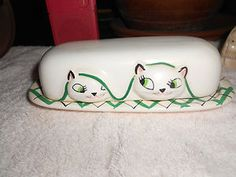 Vintage 1958 Holt Howard Cozy Kitty Kittens Cat Butter Dish