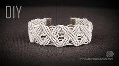 DIY Eternal Zig Zag Lines - X pattern Bracelet in Vintage Style - Tutorial by Macrame School. Please watch more macramé bracelets and free jewelry tutorials ...
