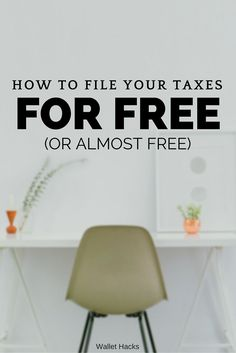 Filing your taxes can be scary but it doesn't have to be expensive. Check out some of the free and heavily discount options available to all tax filers regardless of situation.   tax season tips and tricks   tax filing tips   tips for filing your taxes   tips for tax season    Wallet Hacks