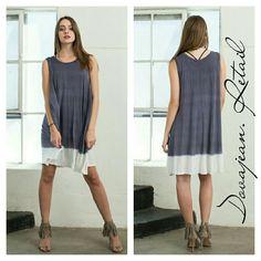 April Spirit, Ombre White + Grey Tye Dye Dress