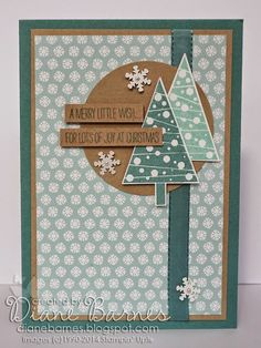 Stampin Up Festival of Trees Christmas card by Di Barnes #colourmehappy