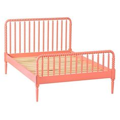 Full Coral Jenny Lind Kids Bed | The Land of Nod