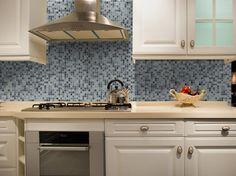 Mineral Tiles Diy Network Tile Backsplash Kit 15ft Blue Moon 179 00 Http