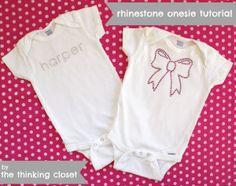 Rhinestone Onesie Tutorial using Silhouette | The Thinking Closet