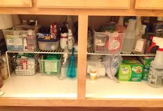 How to Organize under the bathroom sink.