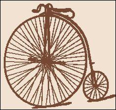 VINTAGE BICYCLE Silhouette cross stitch,  crochet, knitt pattern. $4.99, via Etsy.