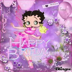 Or should I say Happy BOOPday? Happy Birthday Betty Boop, Purple Happy Birthday, Happy Birthday Wishes Cards, Happy Birthday Pictures, Happy Birthday Quotes, Happy Birthdays, Birthday Cartoon, Cute Pomeranian, Betty Boop Cartoon