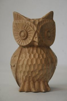 Wood carved owl -- new project!
