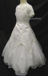 ZAIRE White Communion Dress 6 to 10 years
