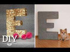 Deko zum Selbermachen: In diesem Video zeige ich wie man tolle riesige Buchstaben selber machen kann. Die Buchstaben können individuell bemalt oder beklebt w...