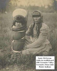Yosemite Native Americans - Susie and Sadie McGowan in Yosemite Valley, CA. 1900, Paiutes by Yosemite Native American,