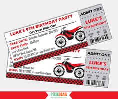 Dirt Bike Invitations - Motorcycle Invitation - Motocross Birthday - Motorcycle Party - Dirtbike Birthday - Printable (Instant Download) by PixieBearParty on Etsy https://www.etsy.com/listing/250882408/dirt-bike-invitations-motorcycle