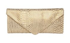 Every woman needs a go-to clutch. Check out our jj winters clutch in tan/bronze snake!  Available at French Sole New Orleans   #FrenchSoleNOLA
