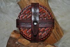 Leather Coaster Set 6  Rustic by VeteransLeatherCraft on Etsy