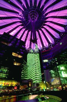 Building Name- Sony Center Berlin  Architect- Murphy Jahn  Location- Berlin, Germany