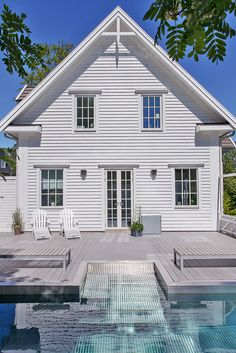 New England känsla Dream Home Design, My Dream Home, House Design, Farm Shed, New England Homes, Swedish House, Backyard, Patio, Home Fashion