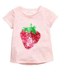 Camiseta de manga corta | Rosa claro/Fresa | Niños | H&M MX
