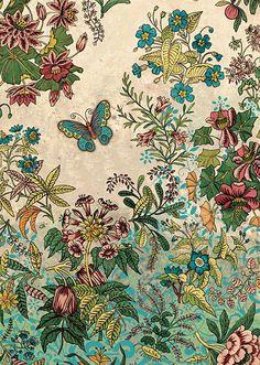 BugArt Decoratives ~ Botanical Wallpaper. DECORATIVES Designed by Jane Crowther.
