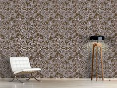 Design #Tapete Romantische Ranken Flora, Delicate, Curtains, Shower, Rugs, Prints, Pattern, Design, Home Decor