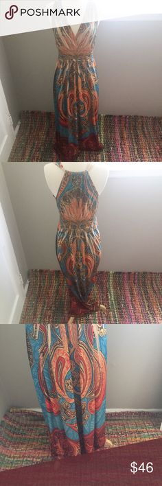 Beautiful Boho Printed Maxi Dress Preloved, but in Good Condition, Feel free to ask any questions, make a reasonable offer, or add to a bundle for 15% off 2 or more items 😃 Dresses Maxi