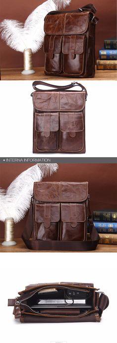 Designer Leather Handbags, Briefcase For Men, Messenger Bag, Satchel, Crossbody Bag, Backpacking, School Tote