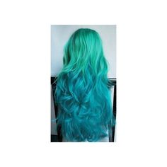 Best Green Blue Ombre Hair Dye | SEAFOAM MERMAID ombre hair chalk set... ❤ liked on Polyvore featuring beauty products, haircare, hair color and hair