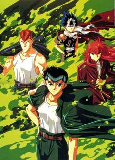Yu Yu Hakusho, a really great anime. Yusuke is a better than Mamoru Chiba. Manga Anime, Fanarts Anime, Anime Characters, Fictional Characters, Geeks, Yoshihiro Togashi, Halloween Contacts, Nerd, Anime Fantasy