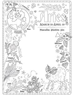 #Wiccan Herbs #Magical #Herbs for #Spells Coloring Pages