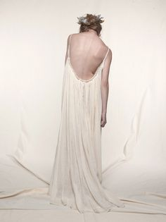 loup charmant Gathered Gauze Maxi Dress